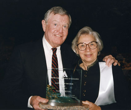 Darrell K Royal and Edith Royal, C.hamber of Commerce